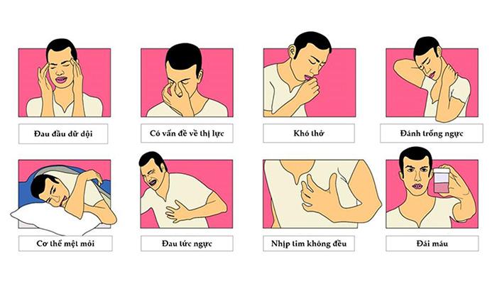 Dấu hiệu phổ biến của người cao huyết áp