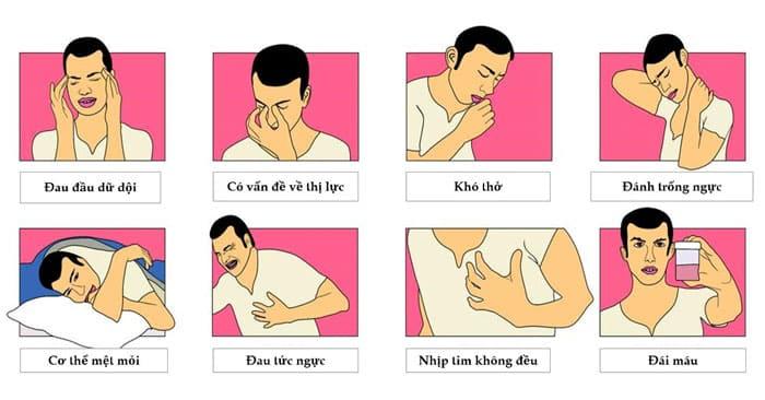 Các triệu chứng khác do bệnh cao huyết áp gây ra