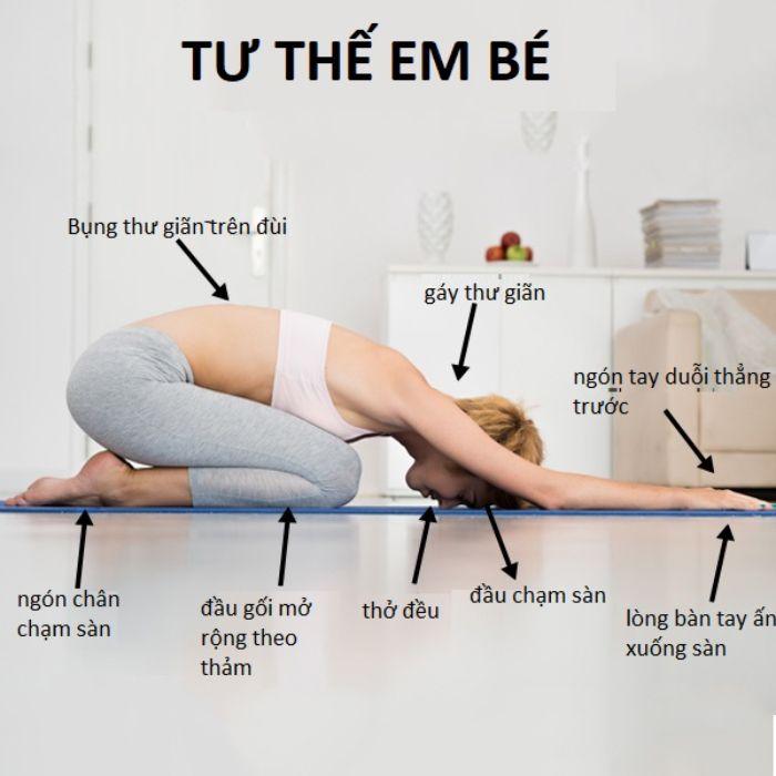 Tư thế em bé trong yoga rất tốt dành cho người cao huyết áp