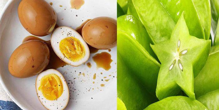 Chữa tiểu đường bằng khế chua và trứng gà