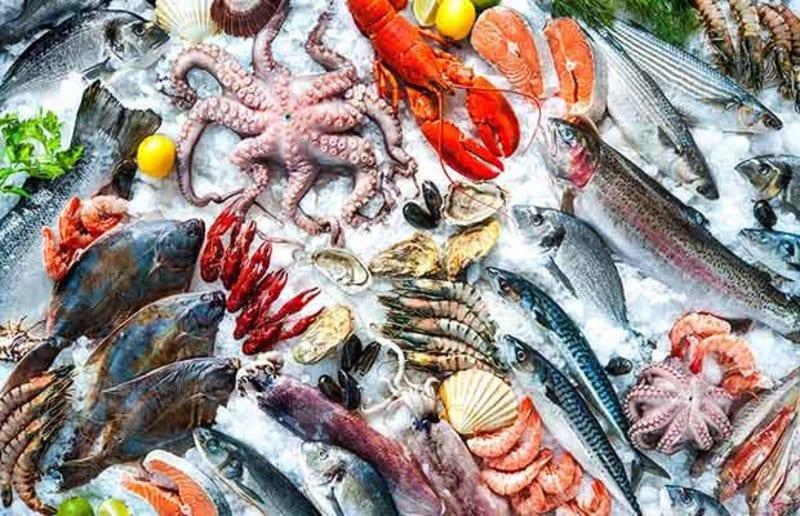Các loại hải sản đều chứa rất nhiều sắt, giúp bổ máu